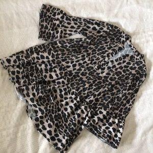 SOLD Leopard print mini tiered babydoll dress